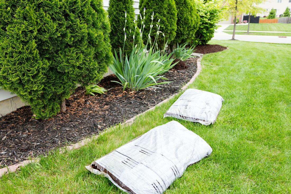 Fertilizing a customer's lawn in Burbank CA by Burbank Lawn Pros